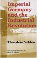 Cover of: Imperial Germany and the industrial revolution