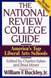 Cover of: National Review College Guide