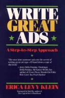 Cover of: Write great ads | Erica Levy Klein
