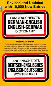 Cover of: German / English Dictionary (Revised) | Langenscheidt Publishers, A.C. Pomahoba