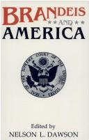 Cover of: Brandeis and America