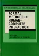 Cover of: Formal methods in human-computer interaction |