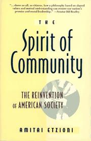 Cover of: spirit of community | Amitai Etzioni