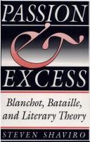 Cover of: Passion & excess