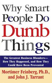 Cover of: Why smart people do dumb things
