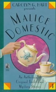 Cover of: Carolyn G. Hart presents Malice Domestic (4)