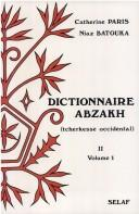 Cover of: Dictionnaire abzakh