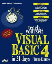 Cover of: Teach yourself Visual Basic 4 in 21 days