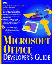 Microsoft Office developer's guide by Rob Krumm