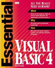Cover of: Essential Visual Basic 4 | Mark Steven Heyman
