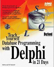 Cover of: Teach yourself database programming with Delphi in 21 days