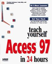 Cover of: Teach yourself Access 97 in 24 hours