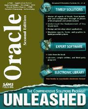 Cover of: Oracle unleashed |