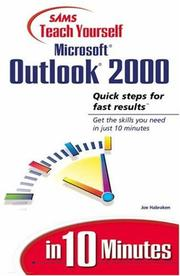Cover of: Sams teach yourself Microsoft Outlook 2000 in 10 minutes