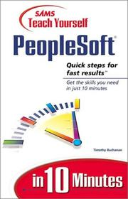Cover of: Sams teach yourself PeopleSoft in 10 minutes