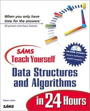 Cover of: Sams Teach Yourself Data Structures and Algorithms in 24 Hours