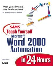 Cover of: Sams teach yourself Microsoft Word 2000 automation in 24 hours