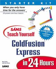 Cover of: Sams teach yourself ColdFusion Express in 24 hours