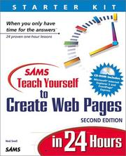 Cover of: Sams teach yourself to create Web pages in 24 hours | Ned Snell
