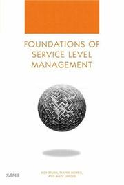 Cover of: Foundations of service level management