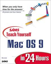 Sams Teach Yourself Mac OS 9 in 24 Hours (Teach Yourself -- Hours) by Rita Lewis, Chris Denny