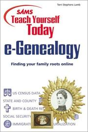 Cover of: Sams teach yourself today e-genealogy