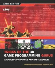 Cover of: Tricks of the 3D game programming gurus | AndreМЃ LaMothe