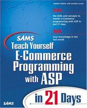 Cover of: Sams Teach Yourself E-Commerce Programming with ASP in 21 Days (Teach Yourself -- 21 Days) | Stephen Walther