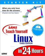 Cover of: Sams teach yourself Linux in 24 hours | Craig Witherspoon