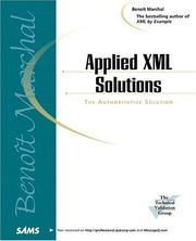 Cover of: Applied XML solutions