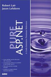 Cover of: Pure ASP.NET | Robert Lair
