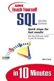 Cover of: Sams teach yourself SQL in 10 minutes