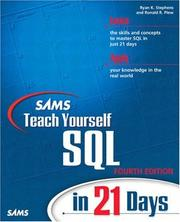 Cover of: Sams teach yourself SQL in 21 days