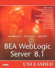 Cover of: BEA WebLogic server 8.1 unleashed |