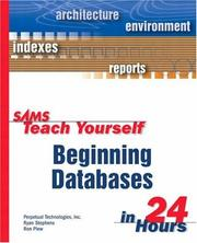 Cover of: Sams teach yourself beginning databases in 24 hours