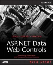 Cover of: ASP.NET Data Web Controls Kick Start
