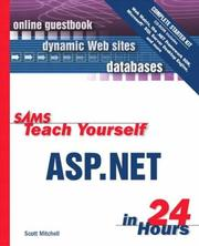 Cover of: Sams teach yourself ASP.NET in 24 hours complete starter kit
