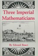 Cover of: Three imperial mathematicians
