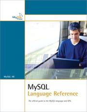 Cover of: MySQL Language Reference | MySQL AB