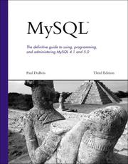 Cover of: MySQL | Paul DuBois