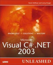 Cover of: Microsoft Visual C# .NET 2003 Unleashed | Kevin Hoffman