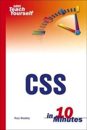 Cover of: Sams Teach Yourself CSS in 10 Minutes | Russ Weakley
