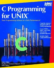 Cover of: C programming for UNIX | John Valley