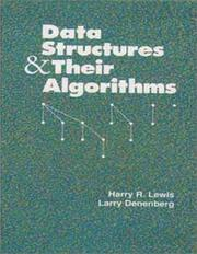 Cover of: Data structures & their algorithms