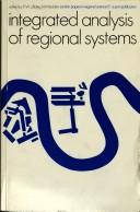 Cover of: Integrated analysis of regional systems | edited by P.W.J. Batey, M. Madden.