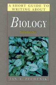 Cover of: A short guide to writing about biology