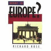 Cover of: What is Europe?: a dynamic perspective