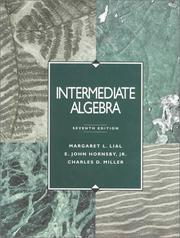 Cover of: Intermediate algebra | Margaret L. Lial