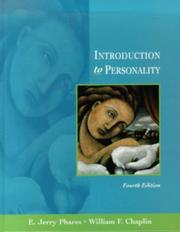 Cover of: Introduction to personality