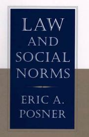 Cover of: Law and social norms